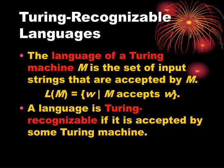 Turing-Recognizable Languages