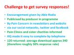 challenge to get survey responses