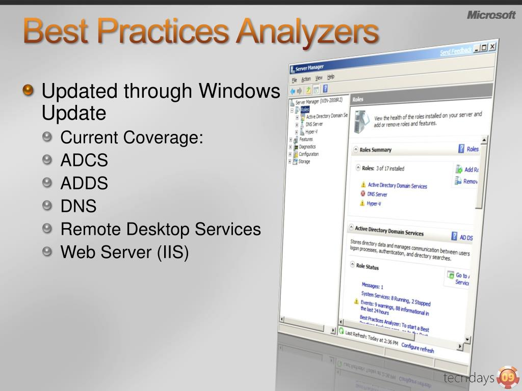 Best Practices Analyzers