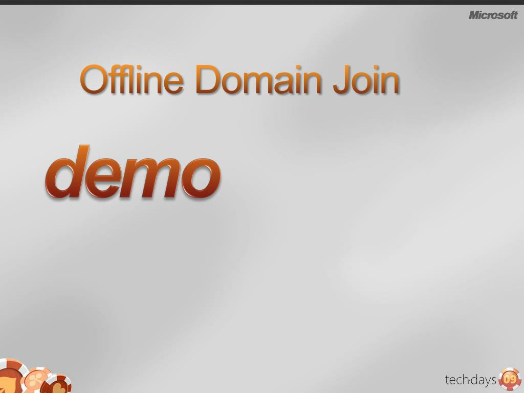 Offline Domain Join