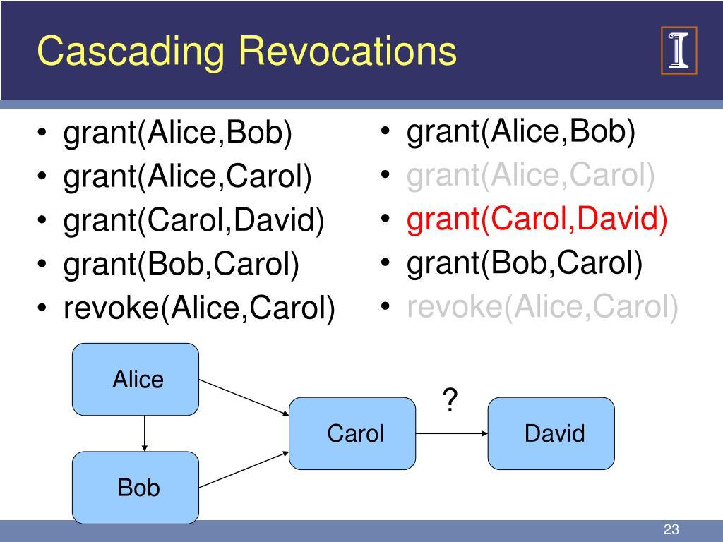 Cascading Revocations