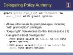 delegating policy authority