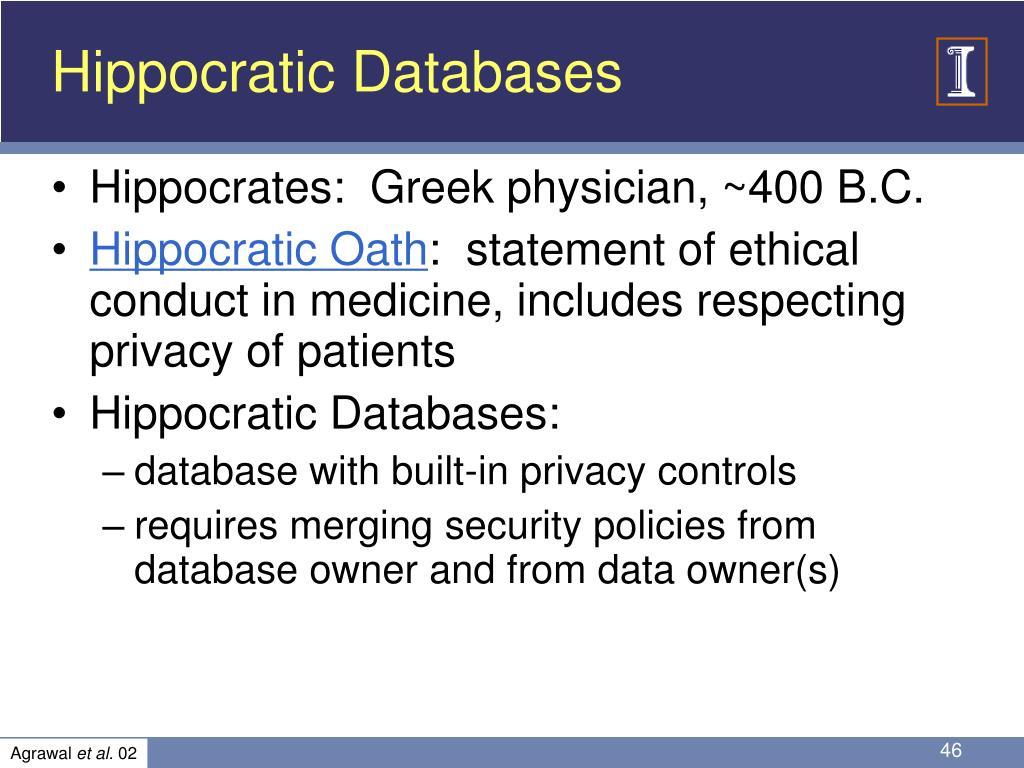 Hippocratic Databases