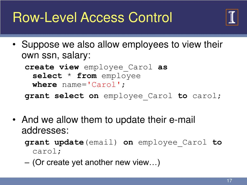 Row-Level Access Control