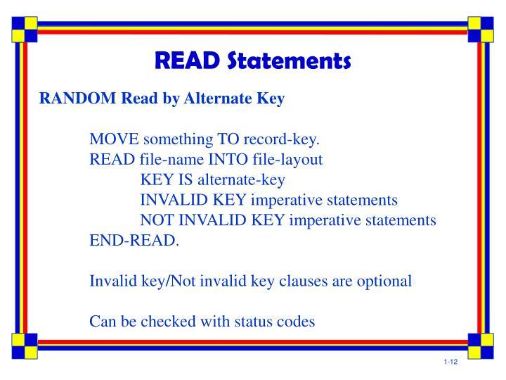 READ Statements