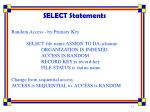 select statements2