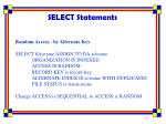 select statements3