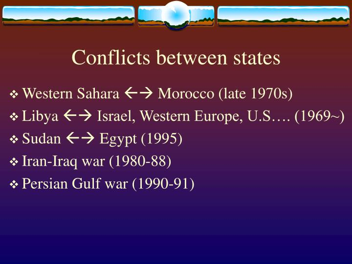 Conflicts between states