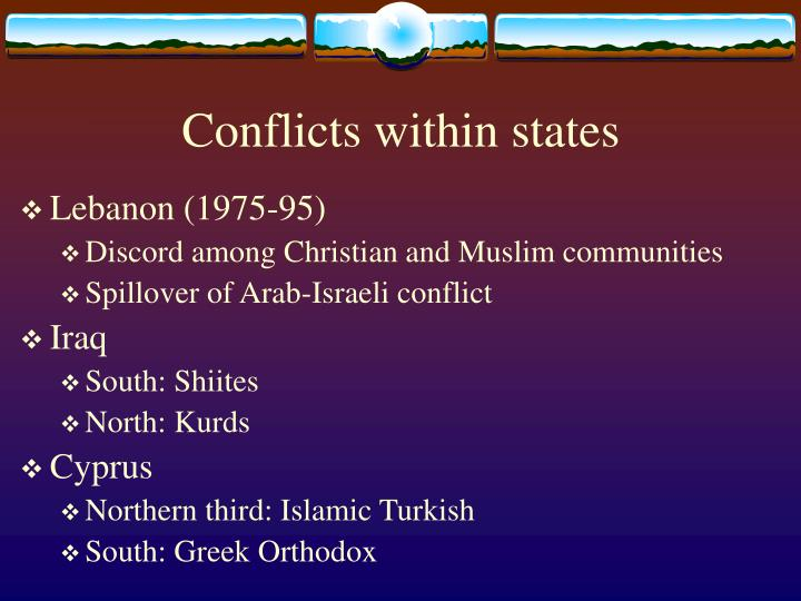 Conflicts within states