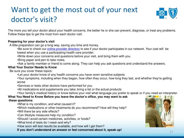 Want to get the most out of your next doctor's visit?