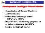 developments leading to present market1