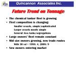 future trend on tonnage