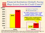 financial institutions globally facing huge losses from the credit crunch