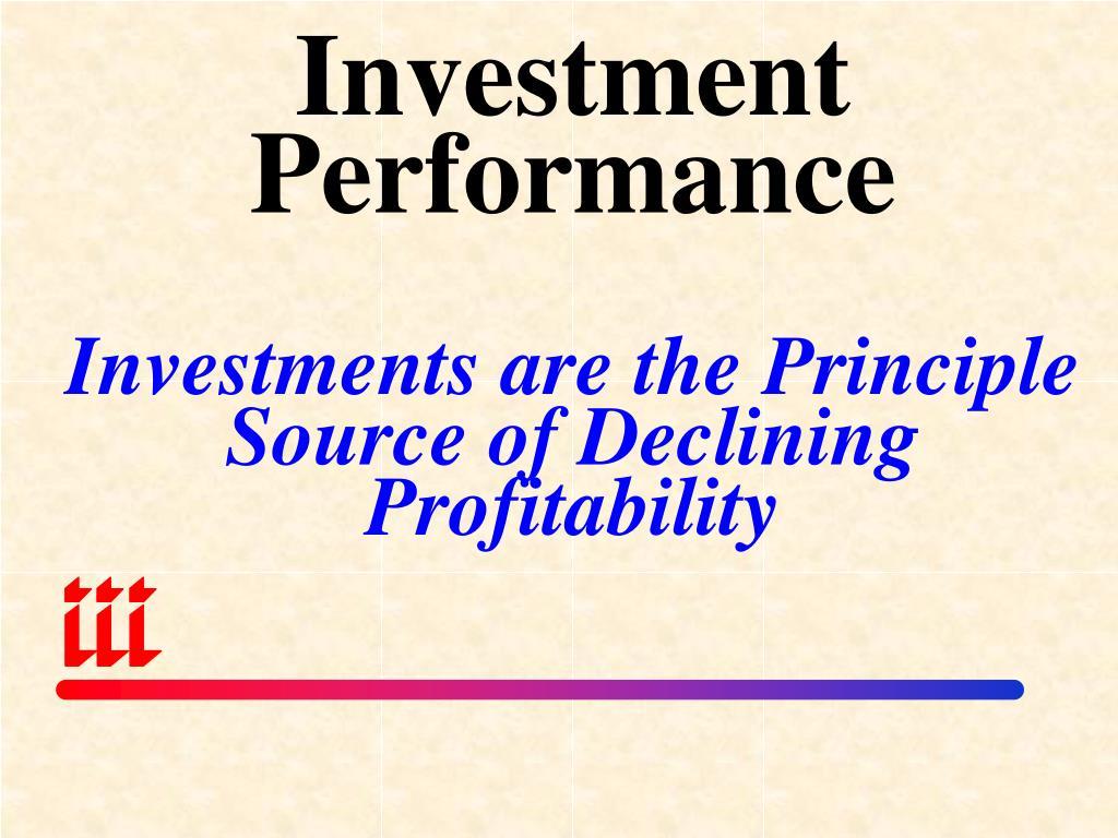 Investment Performance