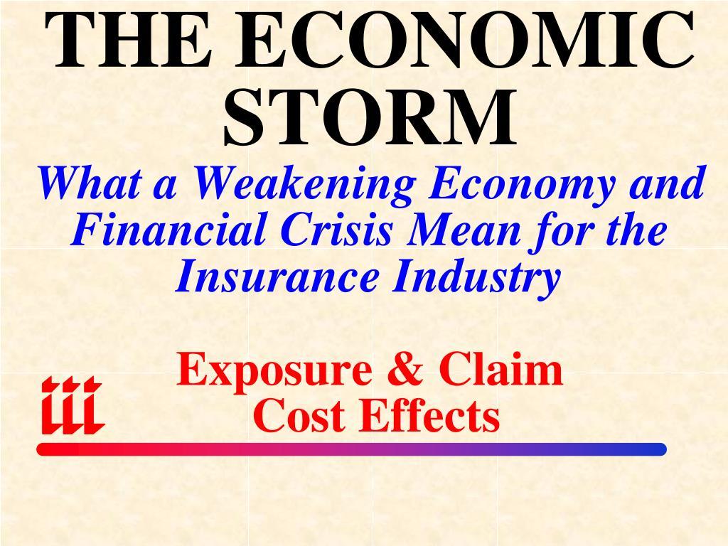 THE ECONOMIC STORM