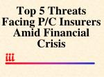 top 5 threats facing p c insurers amid financial crisis