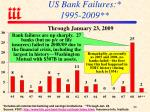 us bank failures 1995 2009