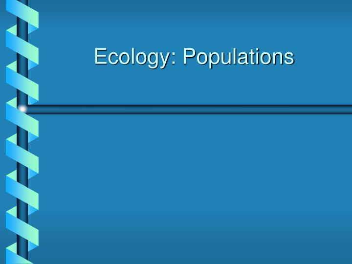 ecology populations n.