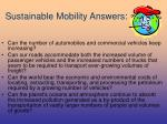 sustainable mobility answers