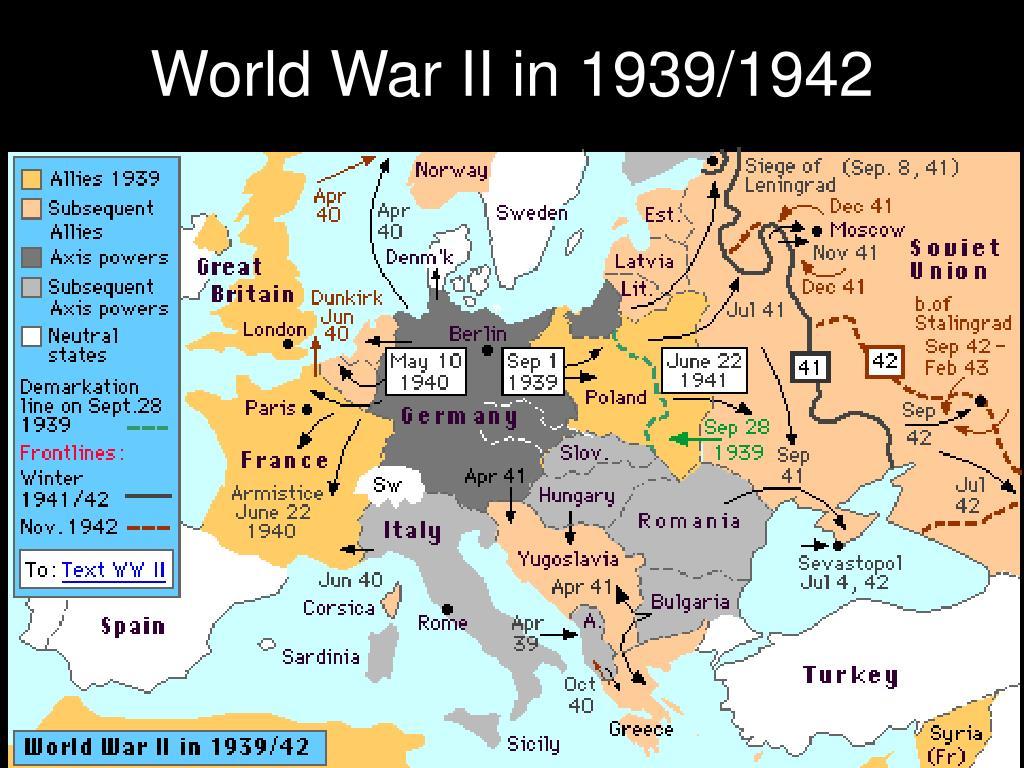 World War II in 1939/1942