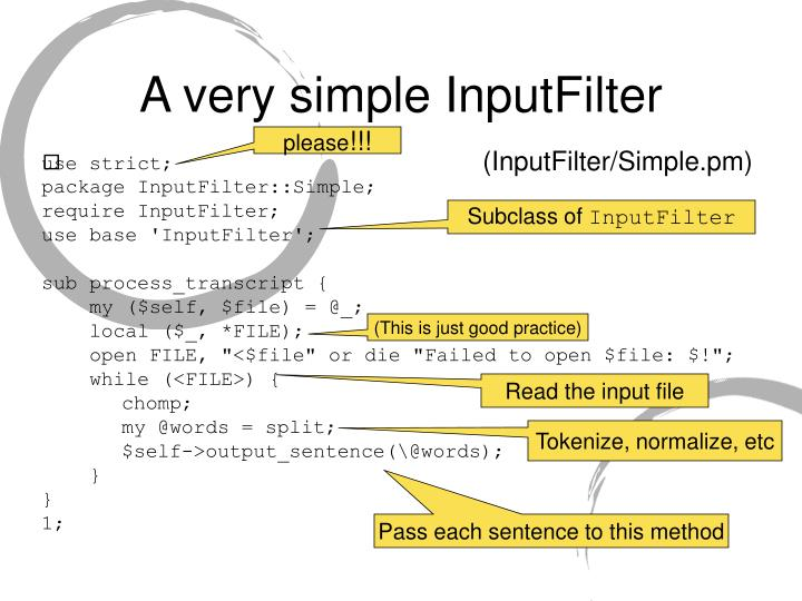 A very simple InputFilter