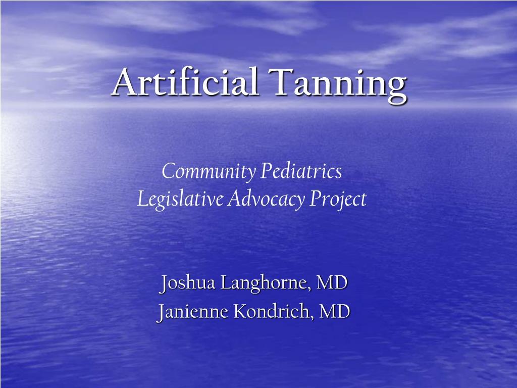 artificial tanning l.