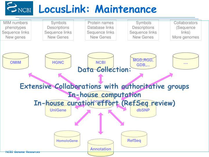 LocusLink: Maintenance