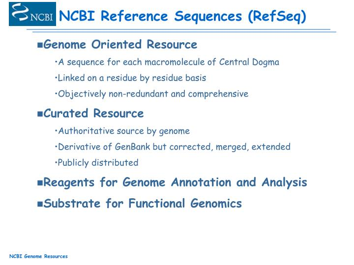 NCBI Reference Sequences (RefSeq)