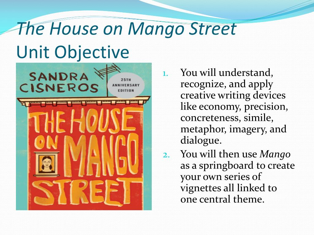 5 examples of imagery in the house on mango street
