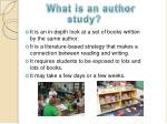 what is an author study