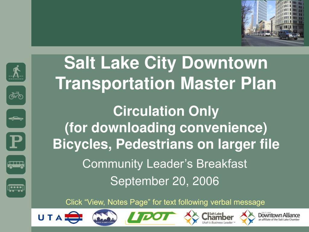 Salt Lake City Downtown Transportation Master Plan