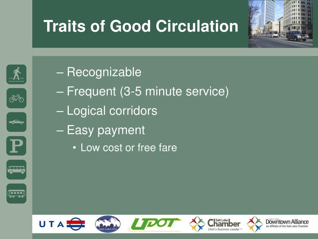 Traits of Good Circulation