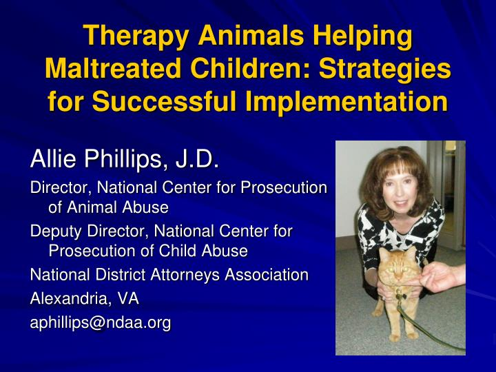 therapy animals helping maltreated children strategies for successful implementation n.