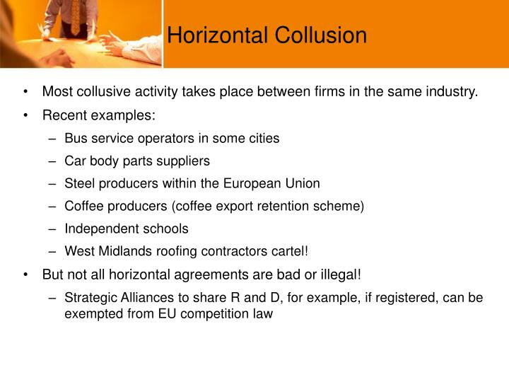 Ppt Collusive Behaviour In An Oligopoly Powerpoint