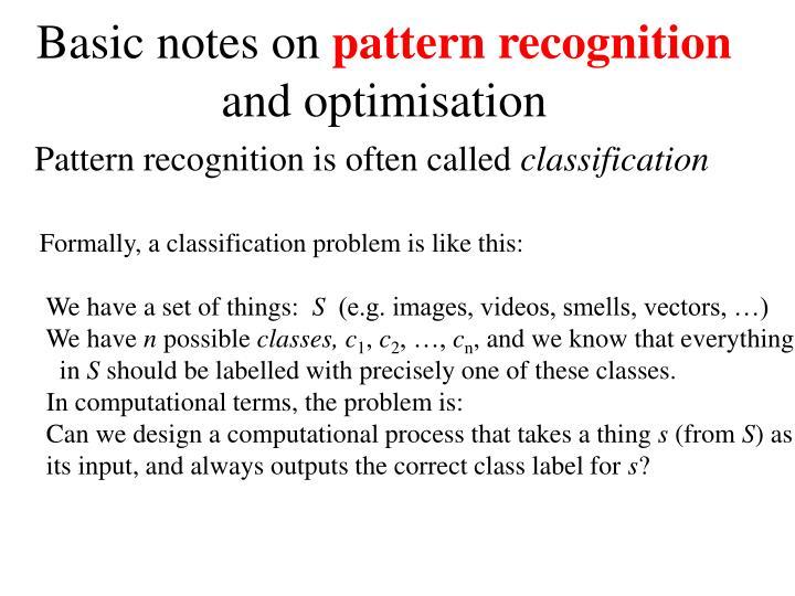 Basic notes on
