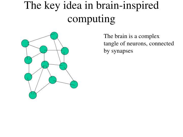 The key idea in brain-inspired computing