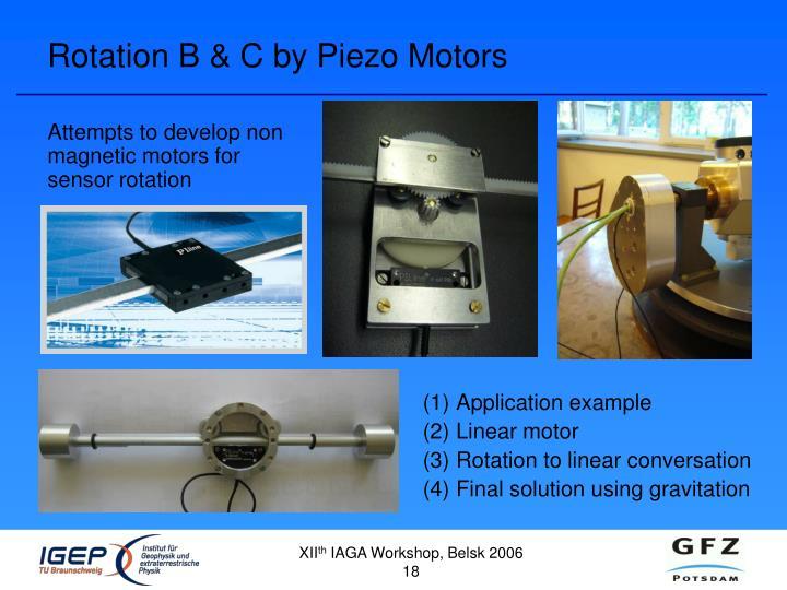 Rotation B & C by Piezo Motors