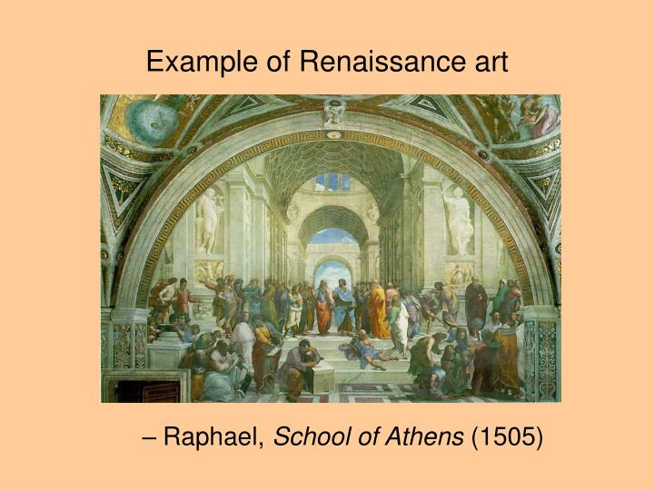 Example of Renaissance art