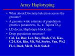array haplotyping
