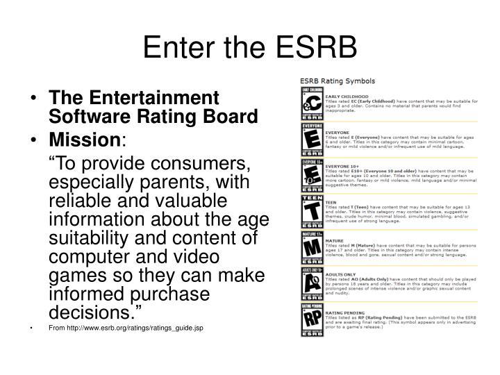 Enter the ESRB