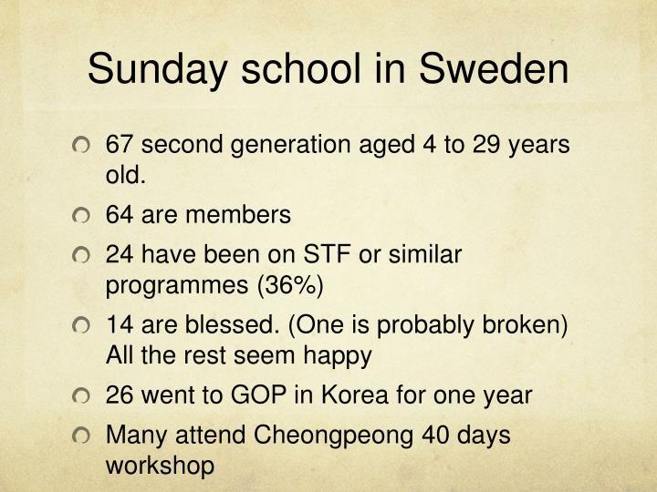 Sunday school in Sweden