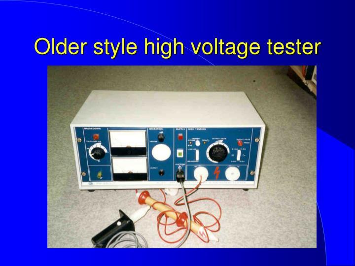 Older style high voltage tester