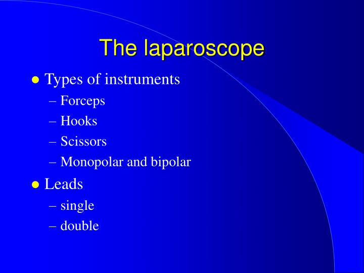 The laparoscope