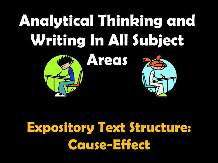 analytical thinking and writing in all subject areas n.