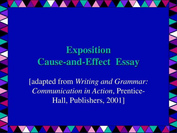 expository writing cause and effect