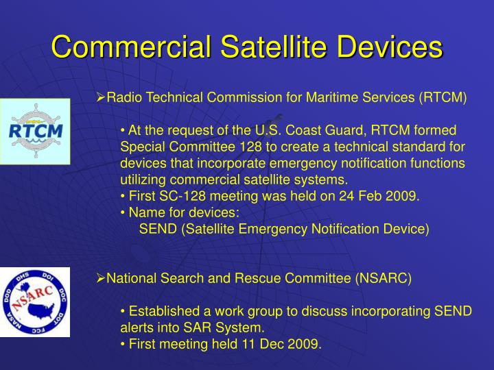 Commercial satellite devices1