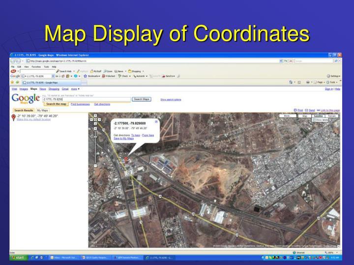 Map Display of Coordinates