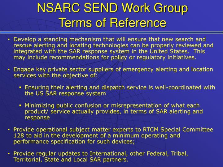 NSARC SEND Work Group