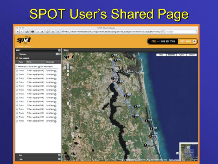 SPOT User's Shared Page