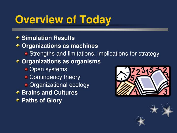 contingency theories of organizations Contingency theory is a class of behavioral theory that claims that there is no best way to organize a corporation, to lead a company, or to make decisions instead, the optimal course of action.